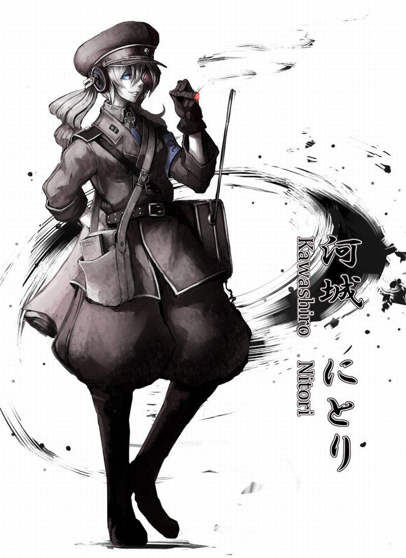 девочка с сигарой / kawashiro Нитори