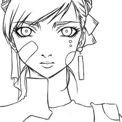 картинка аниме девушка