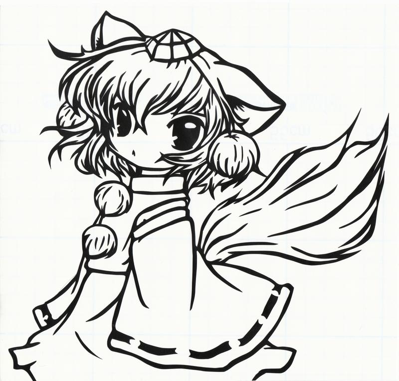 аниме девушка / inubashiri momiji