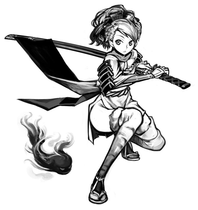 аниме девушка с мечём / oboro muramasa