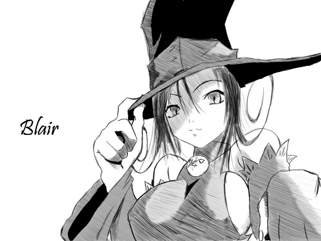 Блэр / blair / аниме девушка со шляпкой