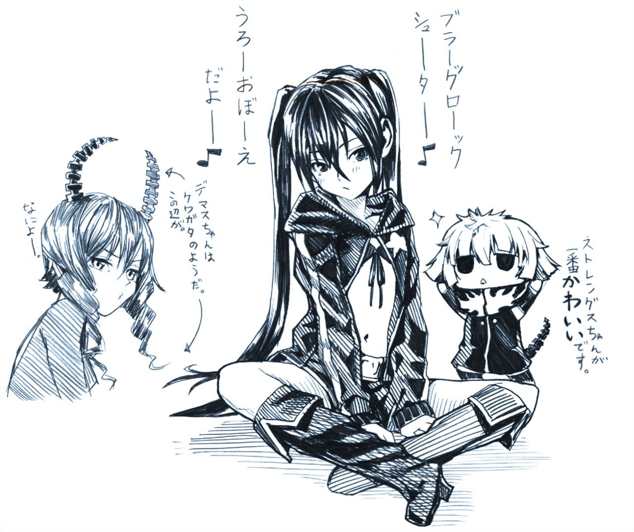 Три аниме девушки
