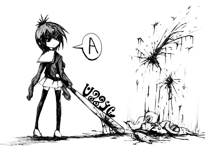 аниме девушка с битой ~ юмор