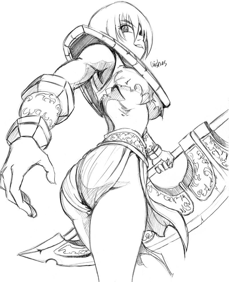 аниме девушка с оружием