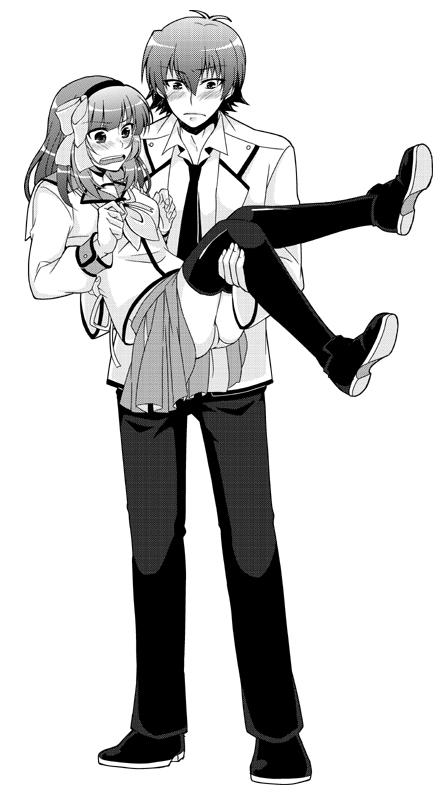 Парень держит на руках пьяную девушку - f41