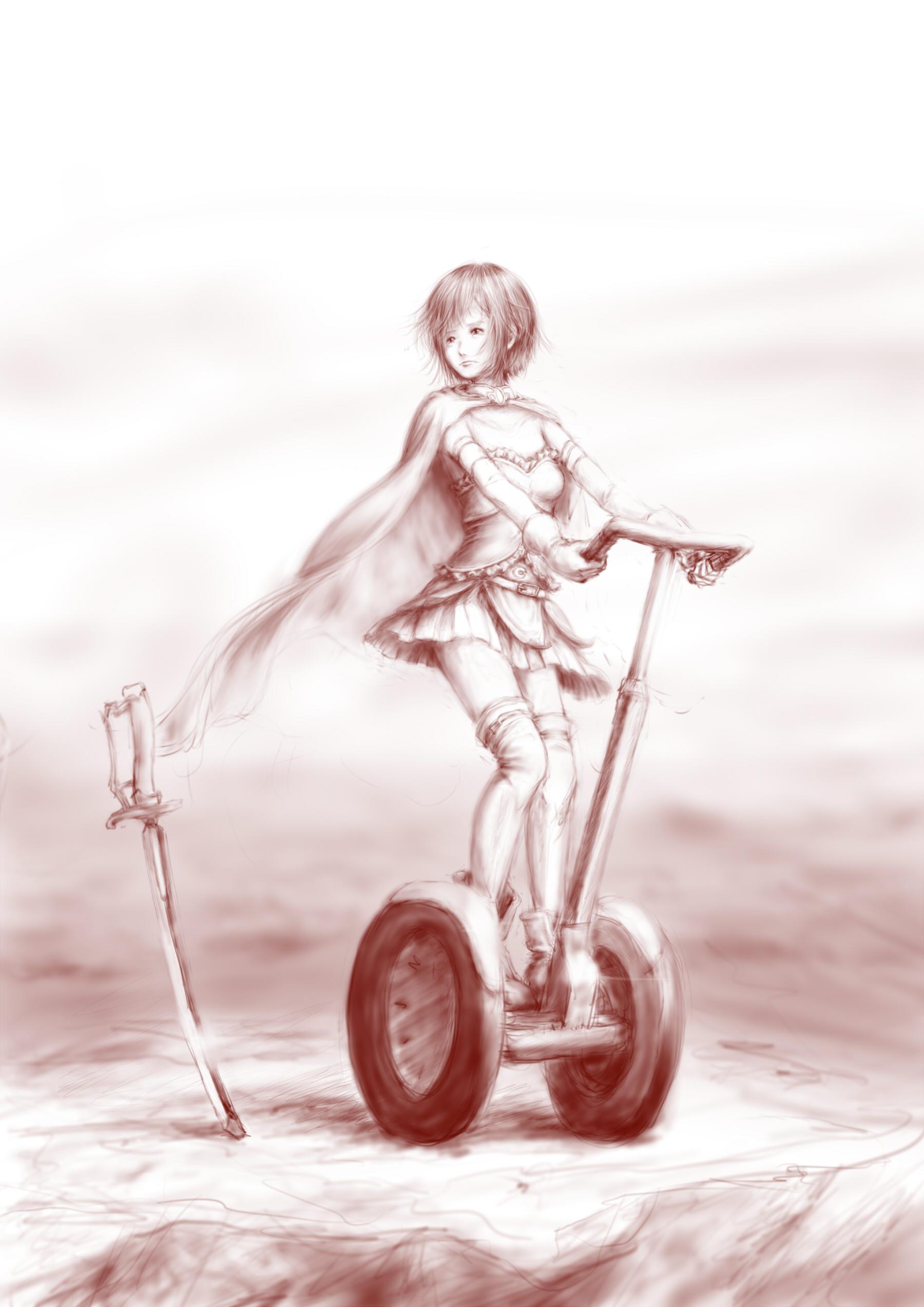 плачущая девушка на колёсах