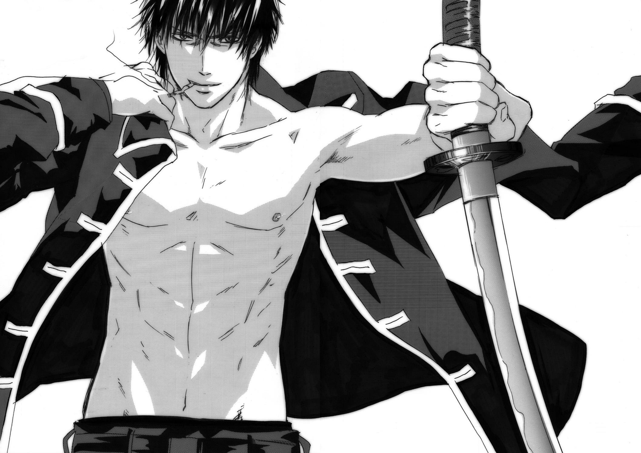 аниме парень с сигаретой и мечём