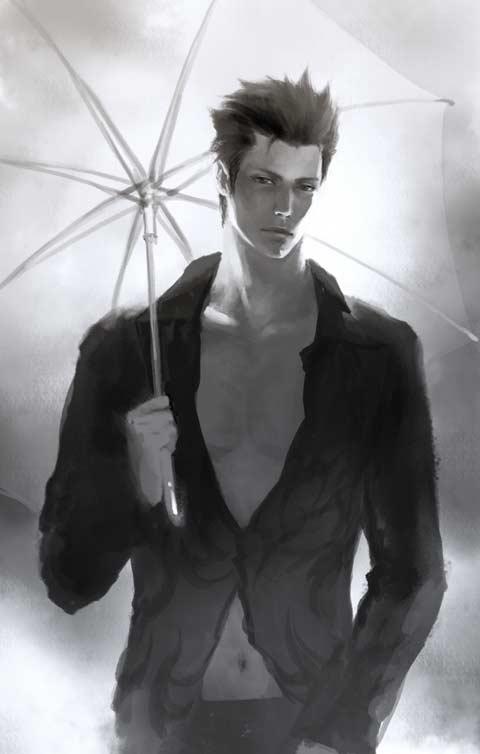 парень с зонтиком ~ lucifel (el shaddai)