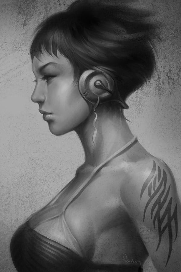аниме девушка с татуировкой ~ pepper project