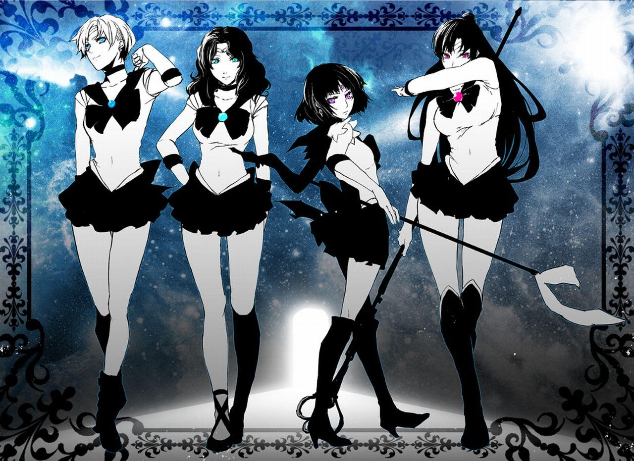 четыре аниме девушки