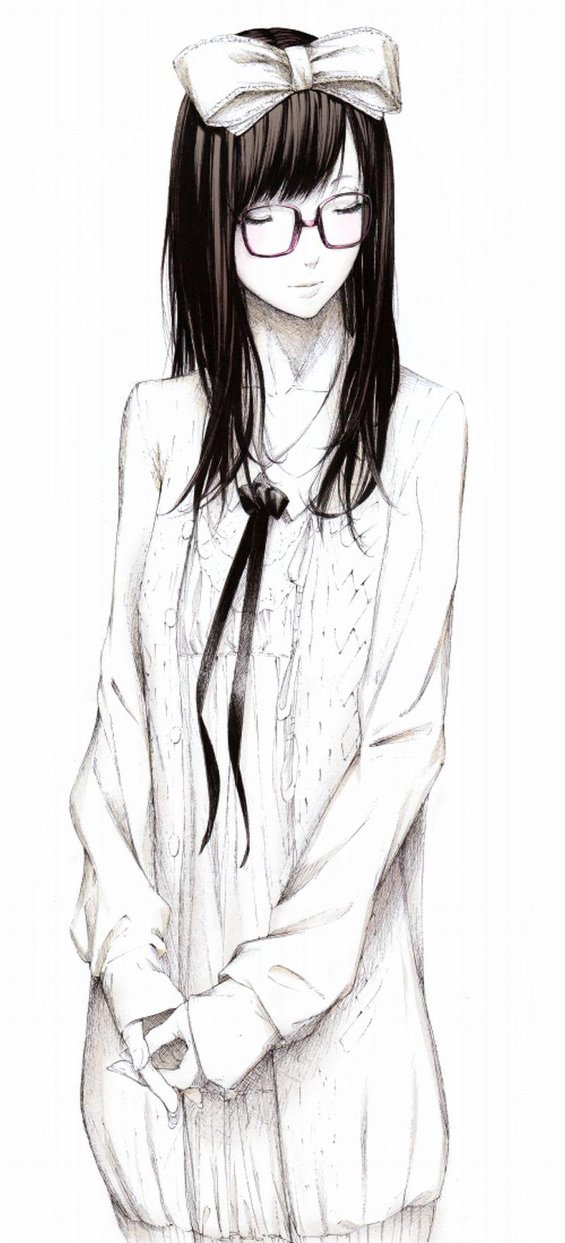 аниме картинка девушки в очках sawasawa