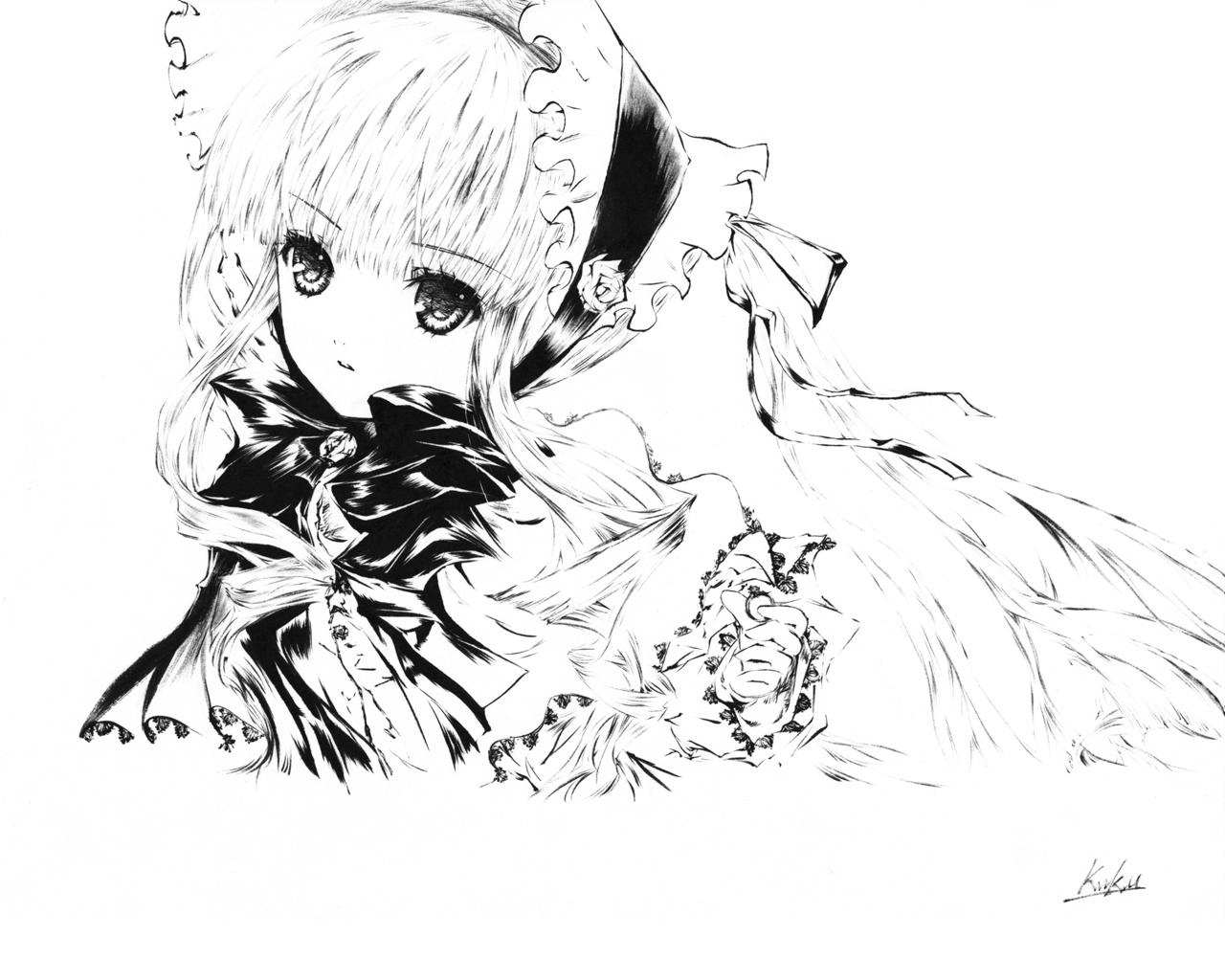 аниме девушка из rozen maiden художник kawanakajima